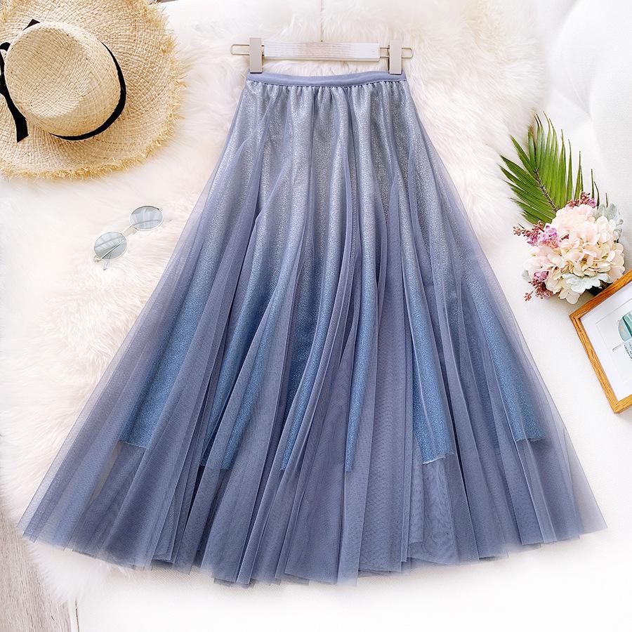 Váy xòe lưới tutu loang mầu lấp lánh VAY53 7