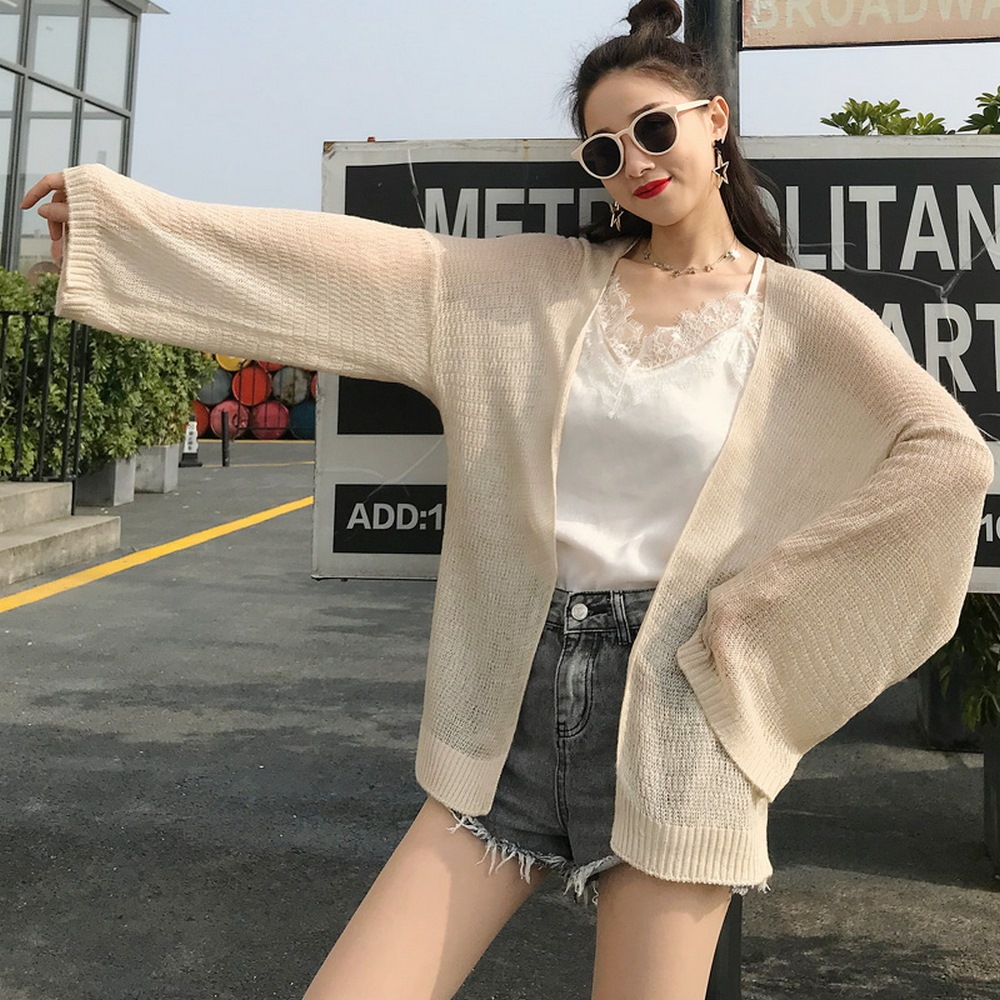 Áo Khoác Cardigan Nữ Len Mỏng Dệt Kim Siêu Hot 10