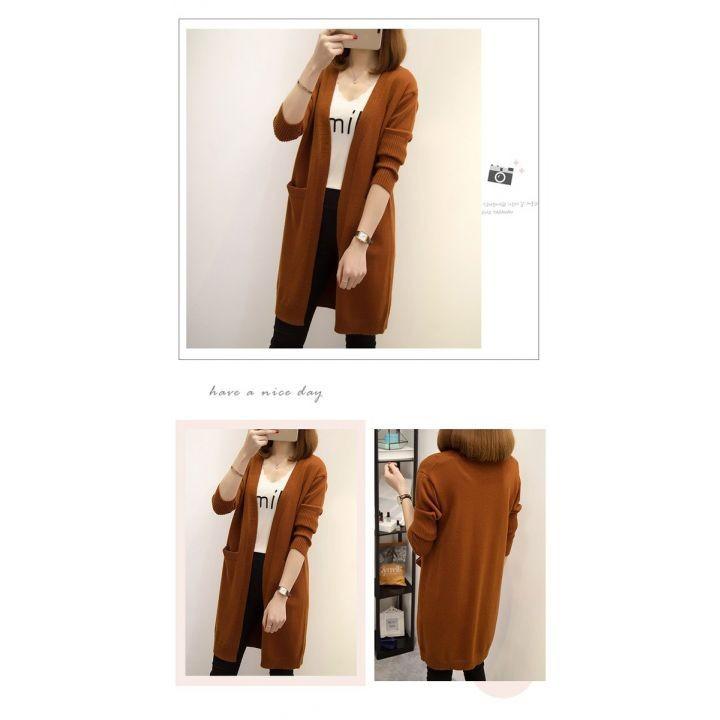 Áo len nữ cardigan dáng dài phong cách trẻ trung 2