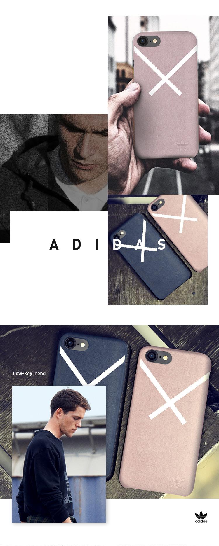 Ốp Lưng Da Lộn Adidas Dành Cho Iphone 7/8