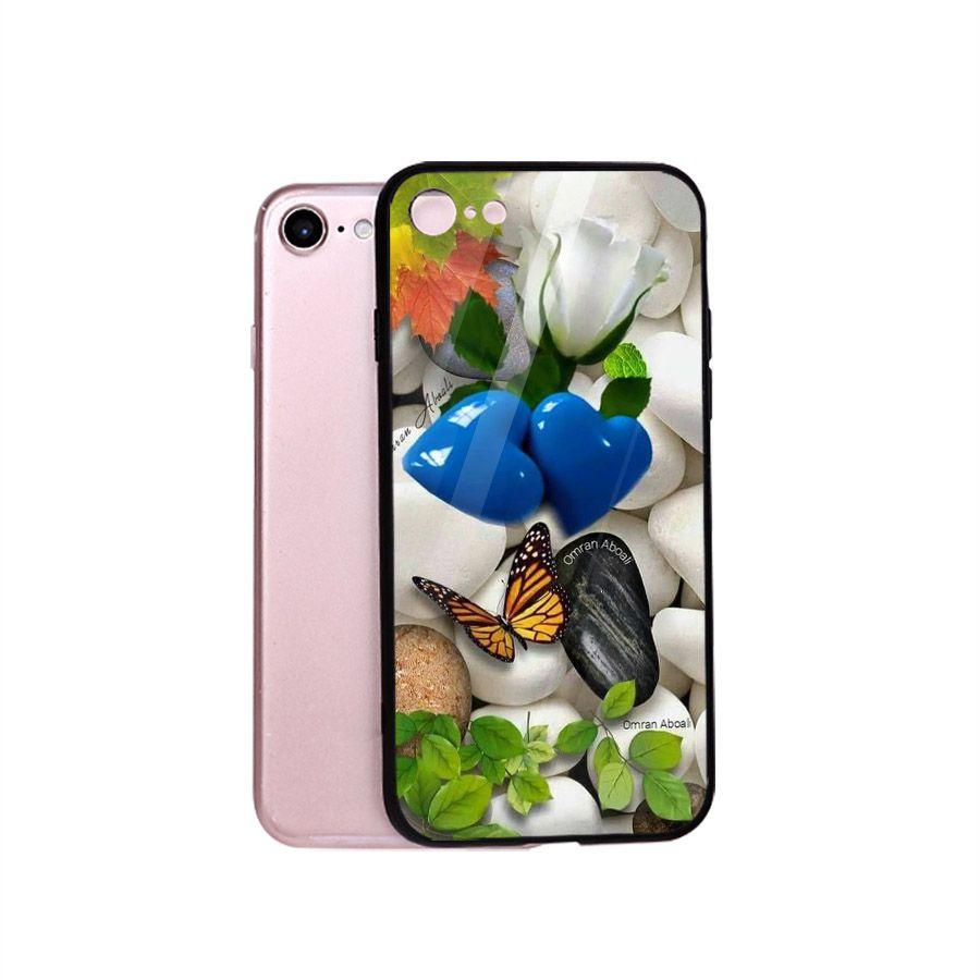 Ốp điện thoại kính cường lực cho máy iPhone 6 / 6S - bướm đẹp MS BUOMD034