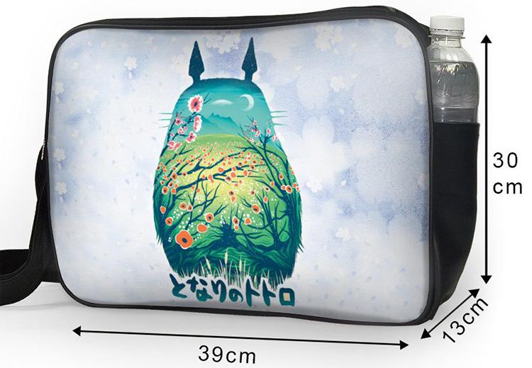 Túi Đeo Chéo Hộp Unisex In Hình Totoro Hoa - TCMA230