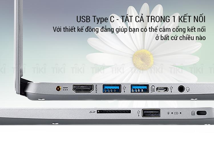 Laptop Acer Swift SF314-32-54-58KB NX.GXZSV.002 Core i5-8250U/Win10 (14 inch) (Silver) - Hàng Chính Hãng
