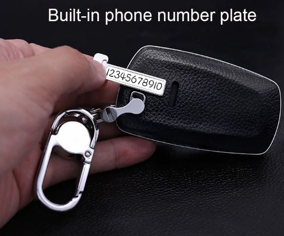 Car Accessories Top Layer Leather Car Key Case For BMW 1/2/3/4/5/6/7 Series/X3/X4 Car Key Cover Shell Car Keychain