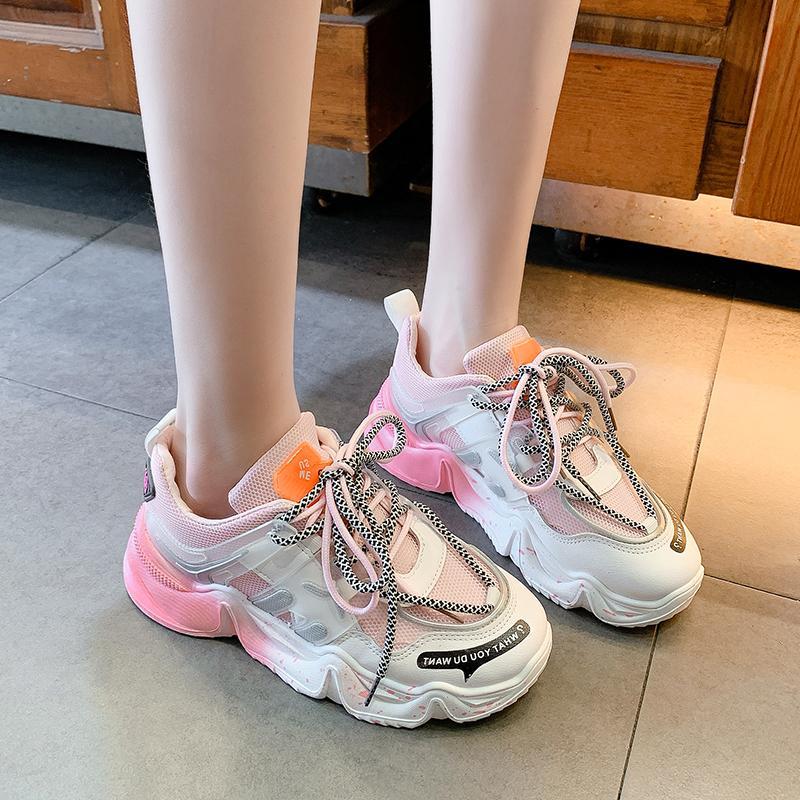 Giầy thể thao nữ Sneaker đế màu cực cá tính 2020 4