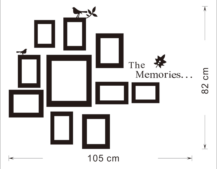 Wall-Mounted Photo Frame Photo Frame Wall Stickers Wall Sticker 10x