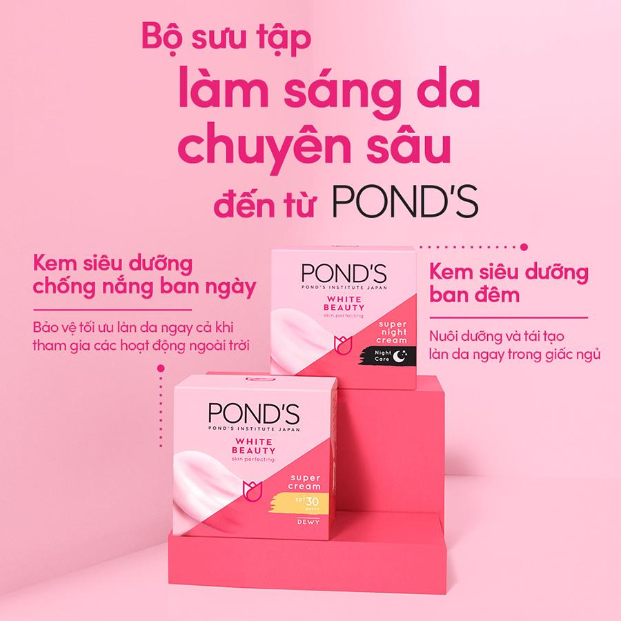 Kem Dưỡng Da Trắng Hồng Rạng Rỡ Pond's White Beauty Ban Ngày (50g)