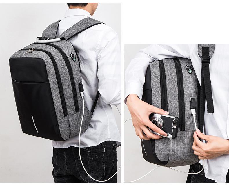 Balo laptop nam nữ thời trang công nghệ có cổng USB, phản quang và mã khóa 3