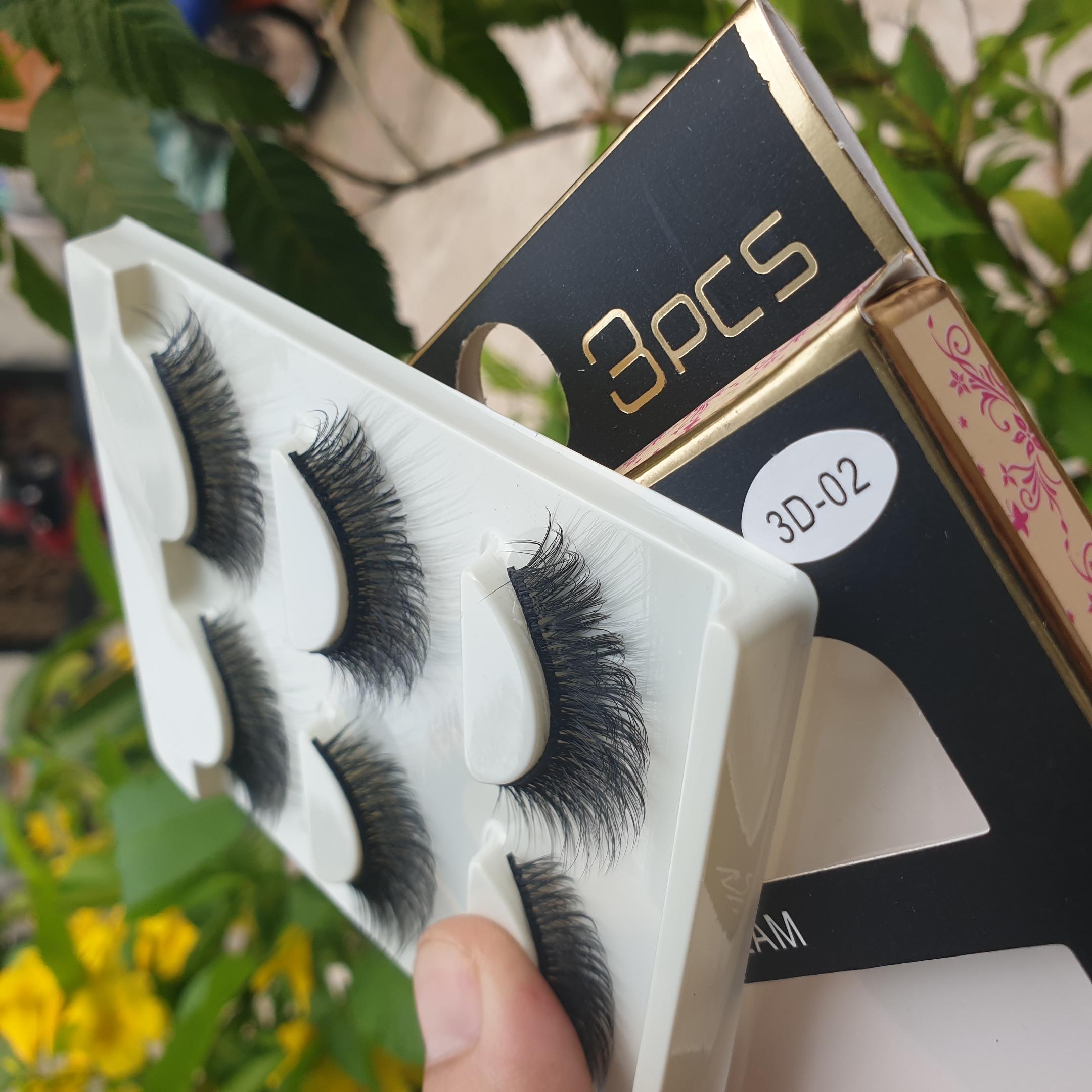 Lông mi giả lông chồn 3 Fashion Eyelashes 3 Faux-Cils 3D 1 bộ 3 cặp 10