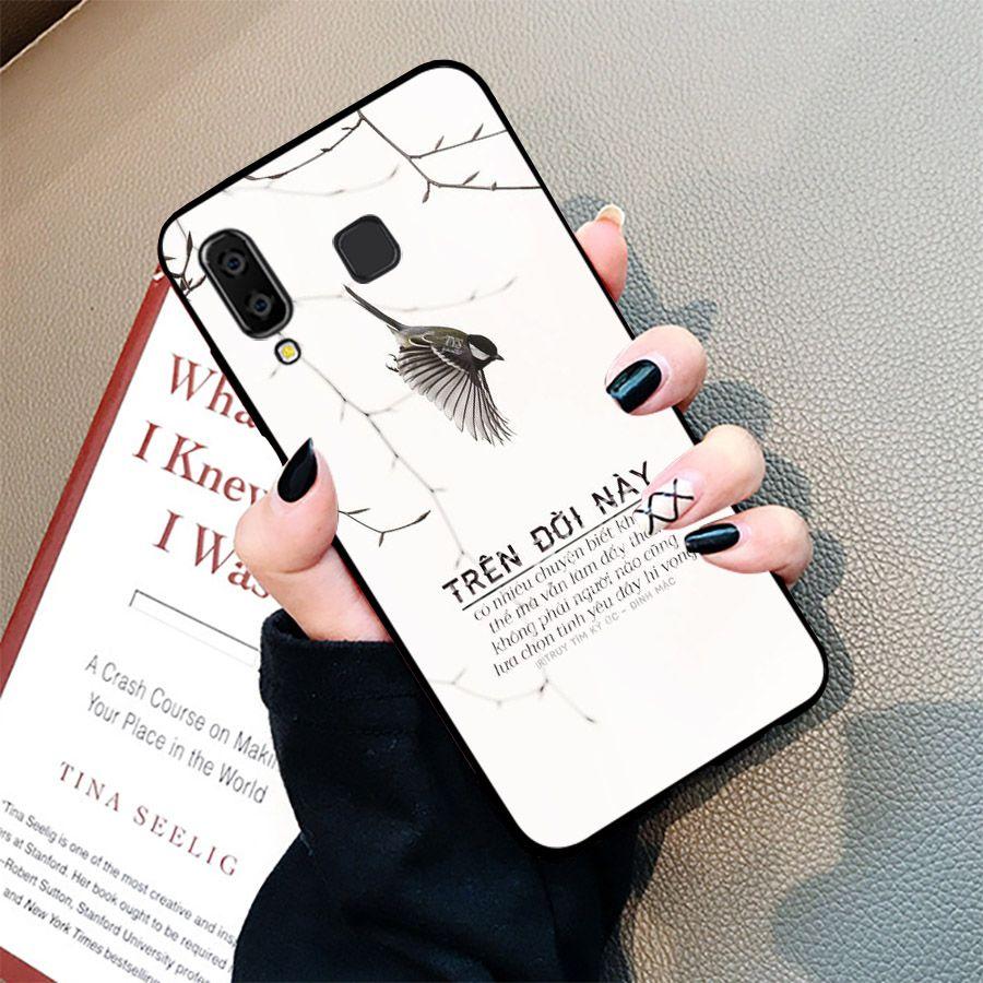 Ốp kính cường lực dành cho điện thoại Samsung Galaxy A7 2018/A750 - A8 STAR - A9 STAR - A50 - ngôn tình tâm trạng - tinh2120