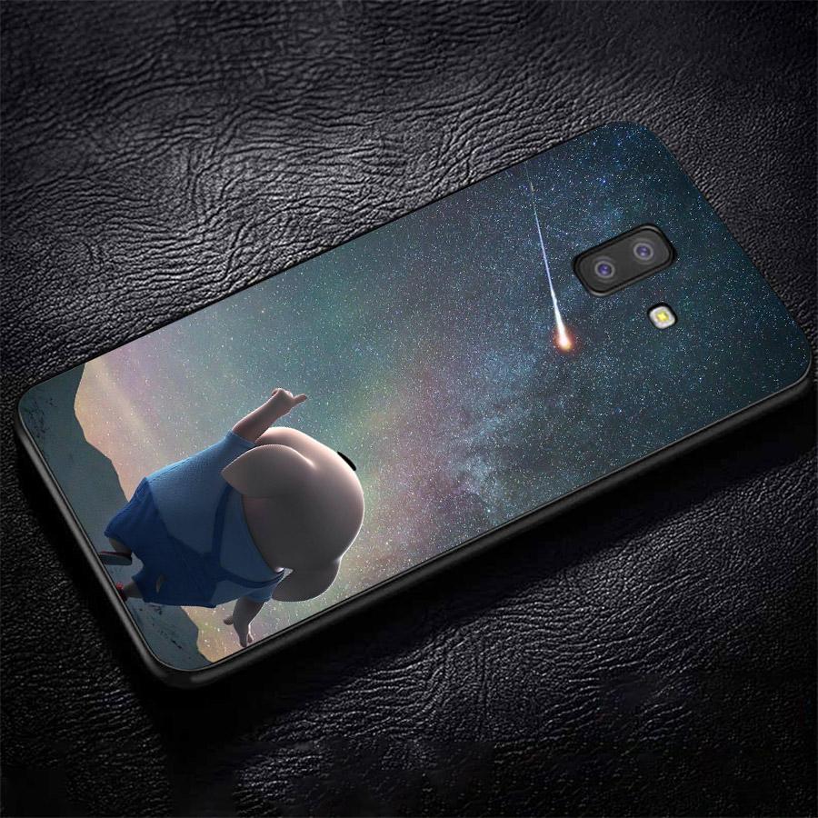Ốp lưng cứng viền dẻo dành cho điện thoại Samsung Galaxy A6 Plus - Heo Thiên Thần Dễ Thương MS HTTDD054