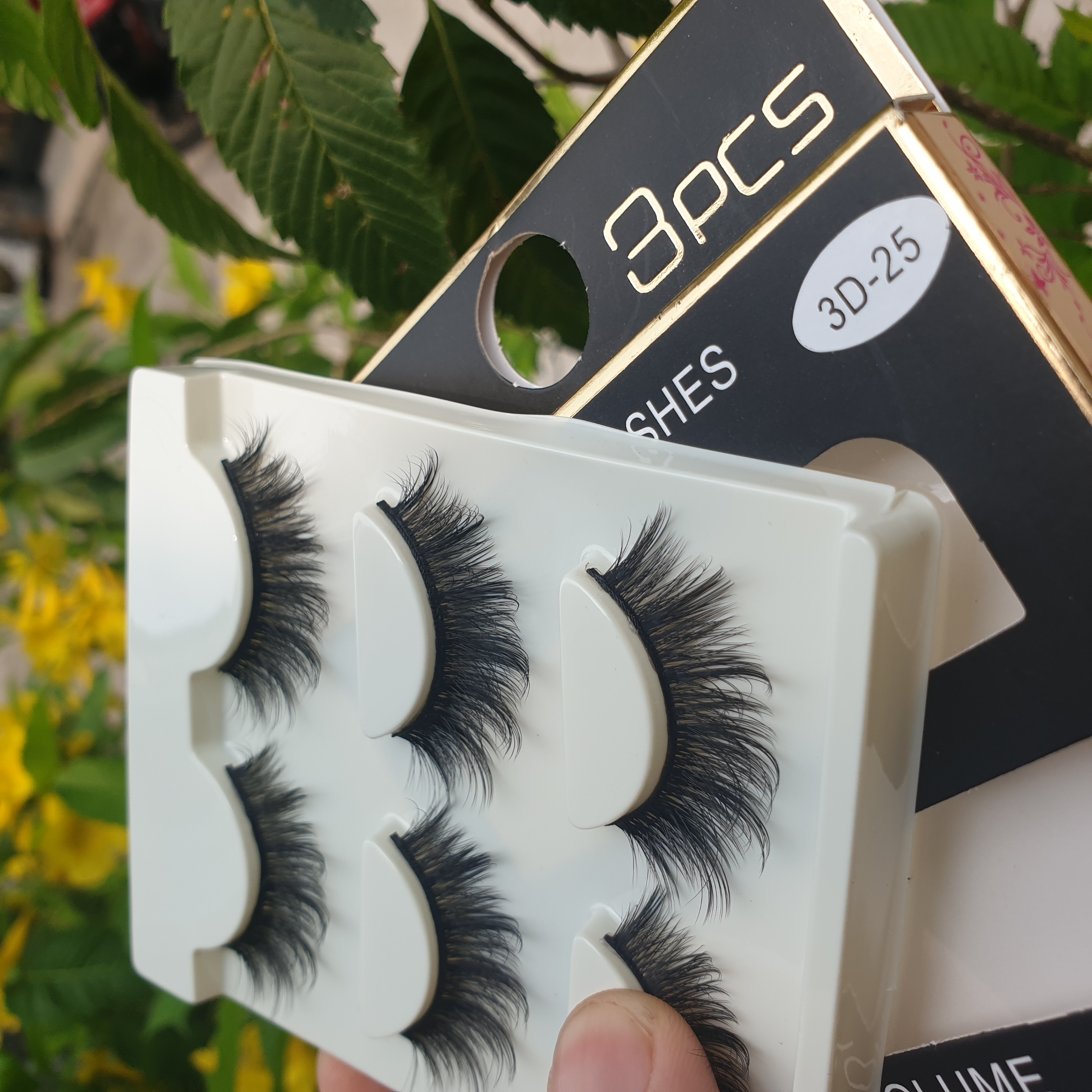 Lông mi giả lông chồn 3 Fashion Eyelashes 3 Faux-Cils 3D 1 bộ 3 cặp 101
