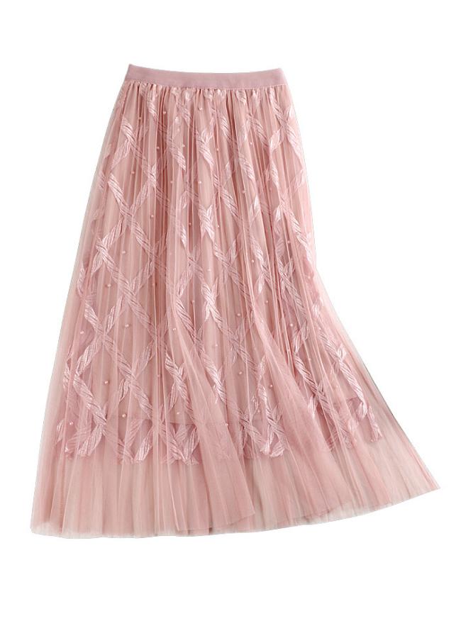 Chân váy ren Tutu ren thừng sang trọng hàng cao cấp VAY20 Free size 6