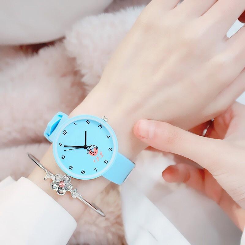 Đồng hồ nữ trái dâu Nhật Bản 4 màu thời trang 11