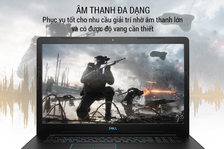 Laptop Dell Inspiron G3 G5I54114 Core i5-8300H/ Dos (15.6 inch FHD IPS) - Hàng Chính Hãng