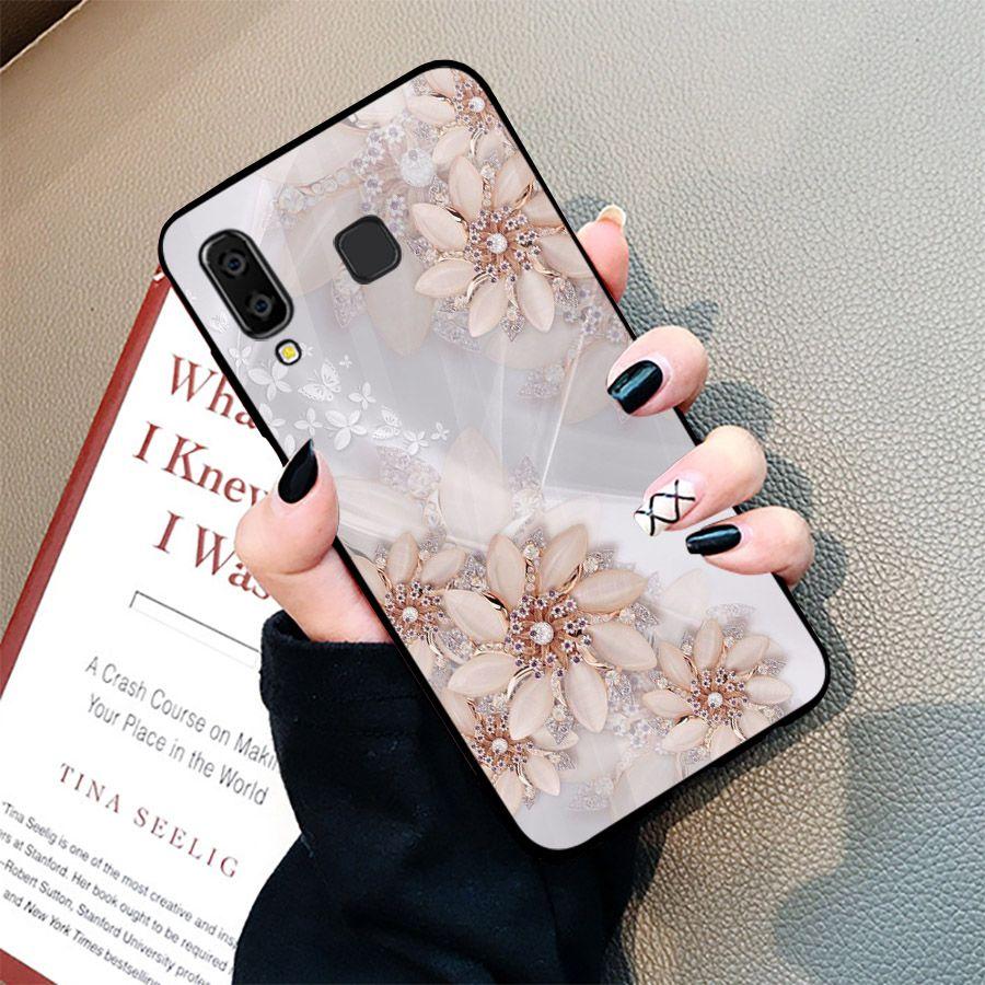 Ốp điện thoại kính cường lực cho máy Samsung Galaxy A50 - ngọc hoa MS NGHOA020