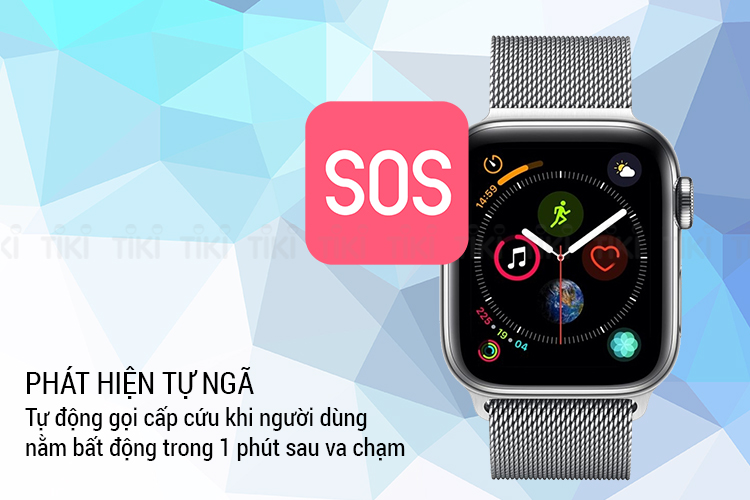 Đồng Hồ Thông Minh Apple Watch Series 4 GPS + Cellular 44mm, Stainless Steel - Milanese Loop