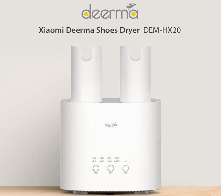 Xiaomi Deerma Shoes Dryer DEM-HX20 Sterilization Intelligent Electric Shoes Drier Heater Deodorization Drying Machine - White