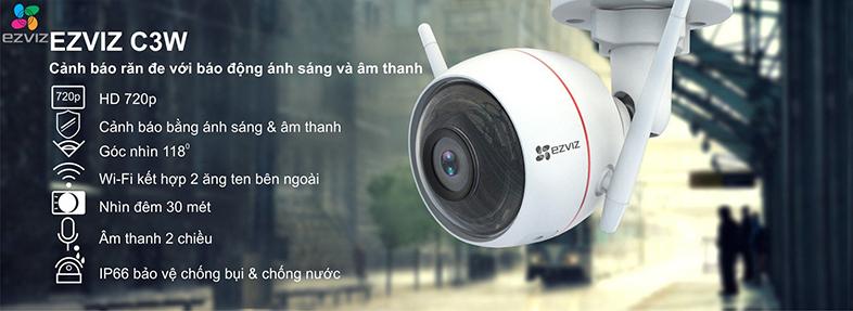 Camera IP Wifi EZVIZ C3W 720P có đèn còi - đàm thoại 2 chiều - hàng nhập khẩu 1