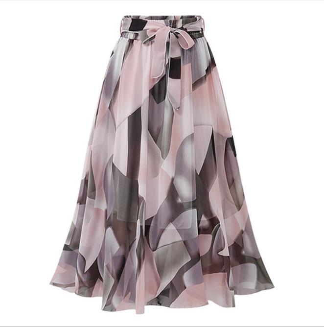 Chân váy voan mềm tung bay phong cách Vintage Châu Âu VAY66 free size 8