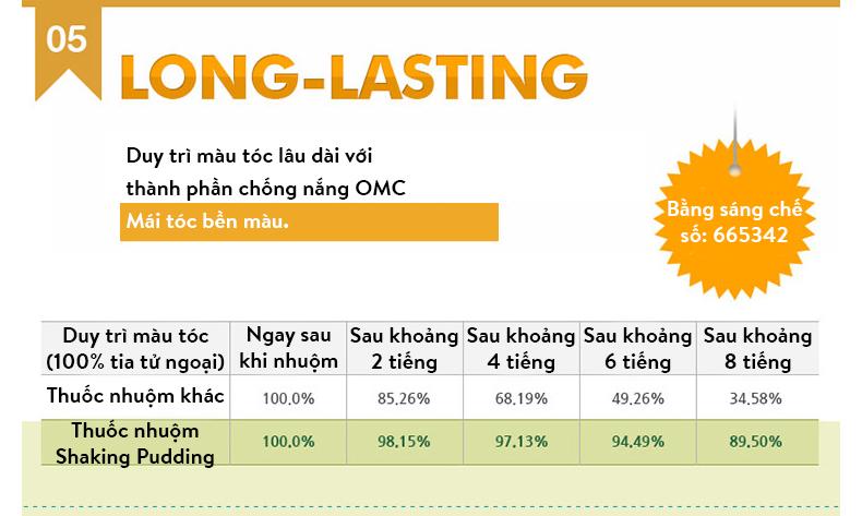 THUỐC NHUỘM TÓC HÀN QUỐC EZN SHAKING PUDDING HAIR COLOR 1.0 KHÔNG CHẤT ĐỘC HẠI 7