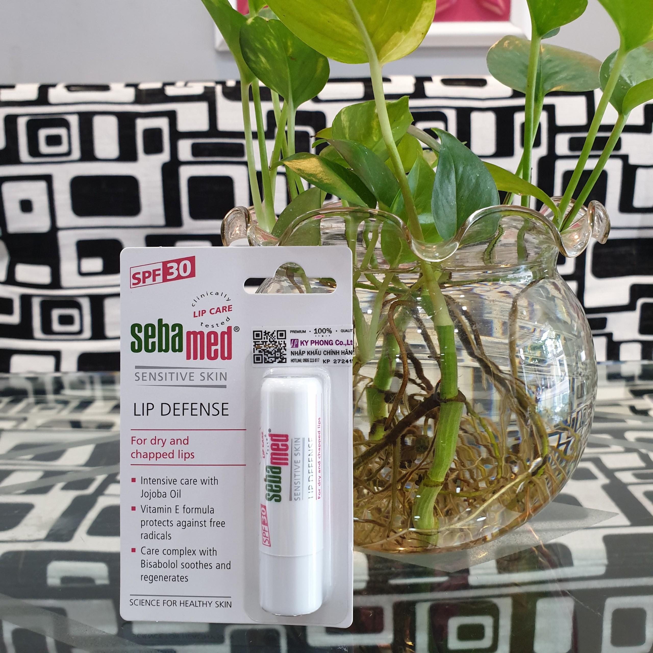 Son dưỡng bảo về chống khô nứt môi Sebamed pH5.5 Sensitive Skin Lip Defense 4.8g 1