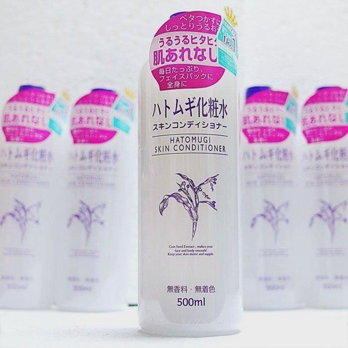 Nước hoa hồng chiết xuất  Ý Dĩ Naturie Hatomugi - 500ml