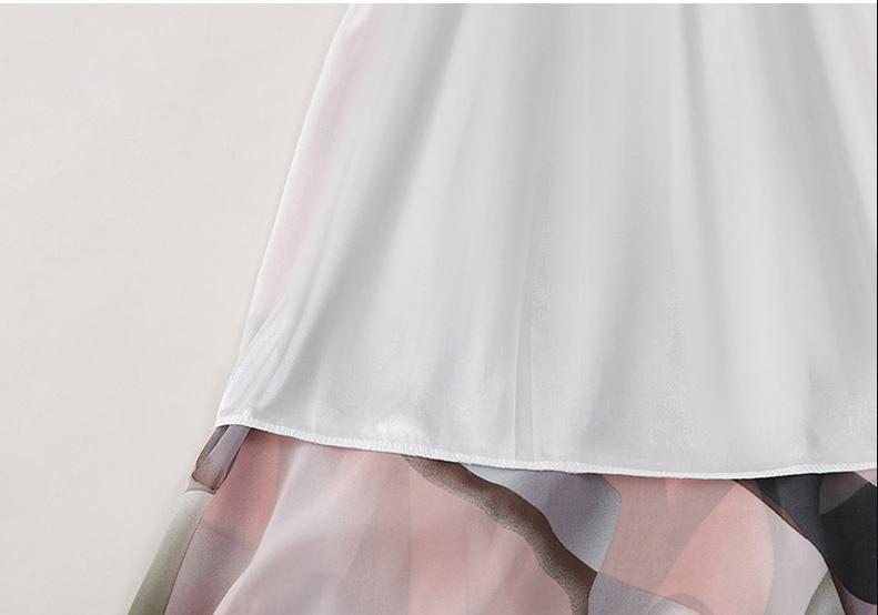 Chân váy voan mềm tung bay phong cách Vintage Châu Âu VAY66 free size 4