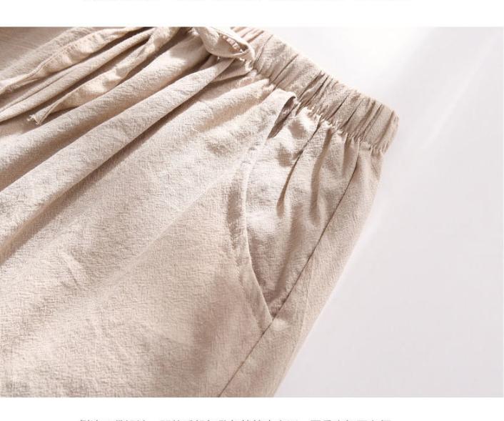 Quần đùi short nữ vải đũi thời trang mát mẻ mùa hè QĐ06 13