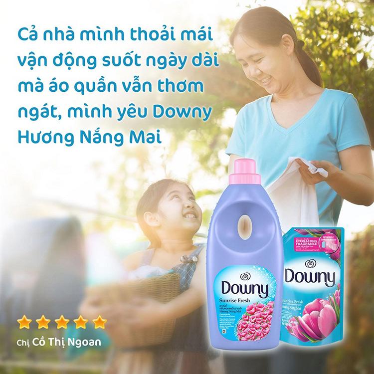 Nước Xả Vải Downy Hương Nắng Mai Chai 1.8L