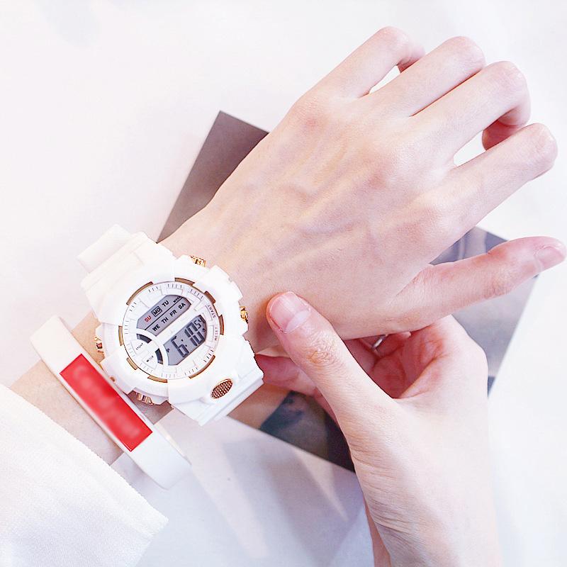 Đồng hồ điện tử nam và nữ KASAWI k562 Sports Đồng hồ Học sinh trung học cơ sở Hàn Quốc thể thao chống thấm nước- xem giờ điện tử - báo thức - bấm giờ thể thao - xem lịch ngày tháng thứ - Dây Silicone Bền Chắc 20