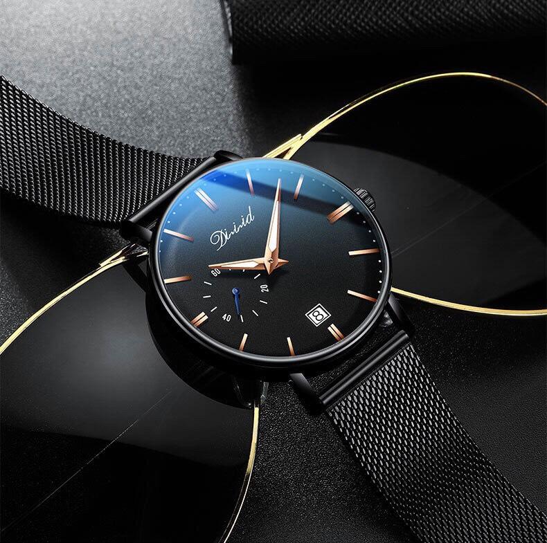 Đồng hồ nam cao cấp DIZIZID Dây Titanium Chạy Full 3 Kim Và Lịch Ngày - High Fashion Design DIZ3KD9 3