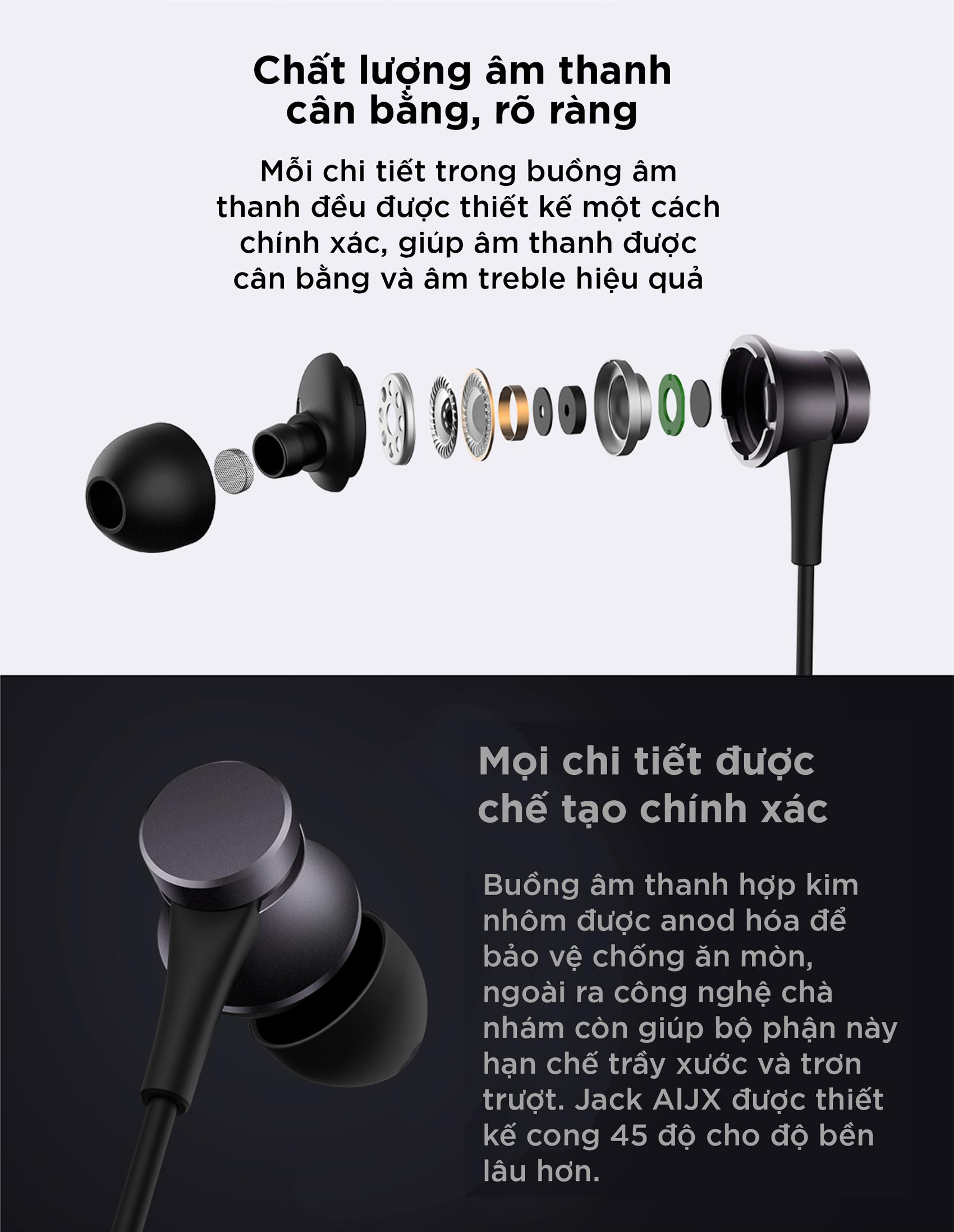 Tai nghe Xiaomi Mi Earphones Basic With In-built Mic