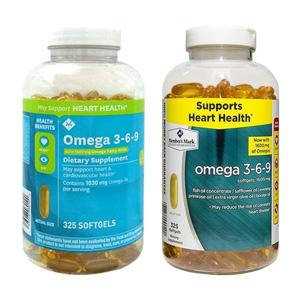 Viên uống dầu cá Omega 369 Supports( Mẫu mới và mẫu cũ)