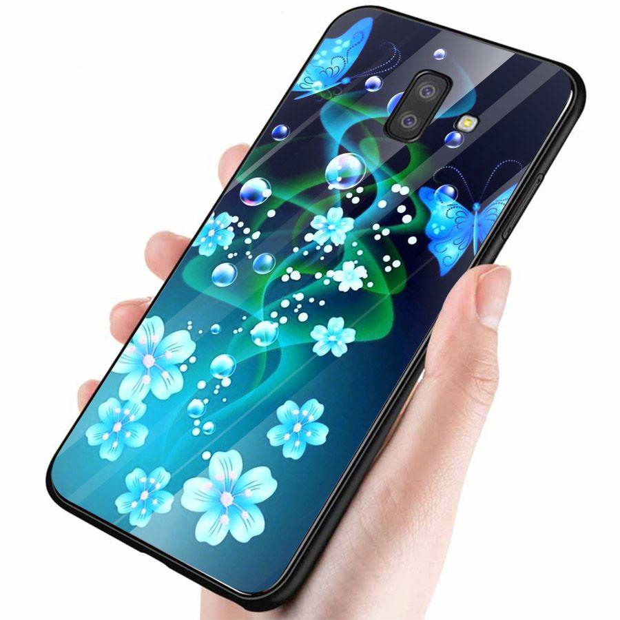 Ốp kính cường lực cho điện thoại Samsung Galaxy J4 - J6 - J6 PLUS - J6 PRIME - J8 - bướm đẹp MS ANH056