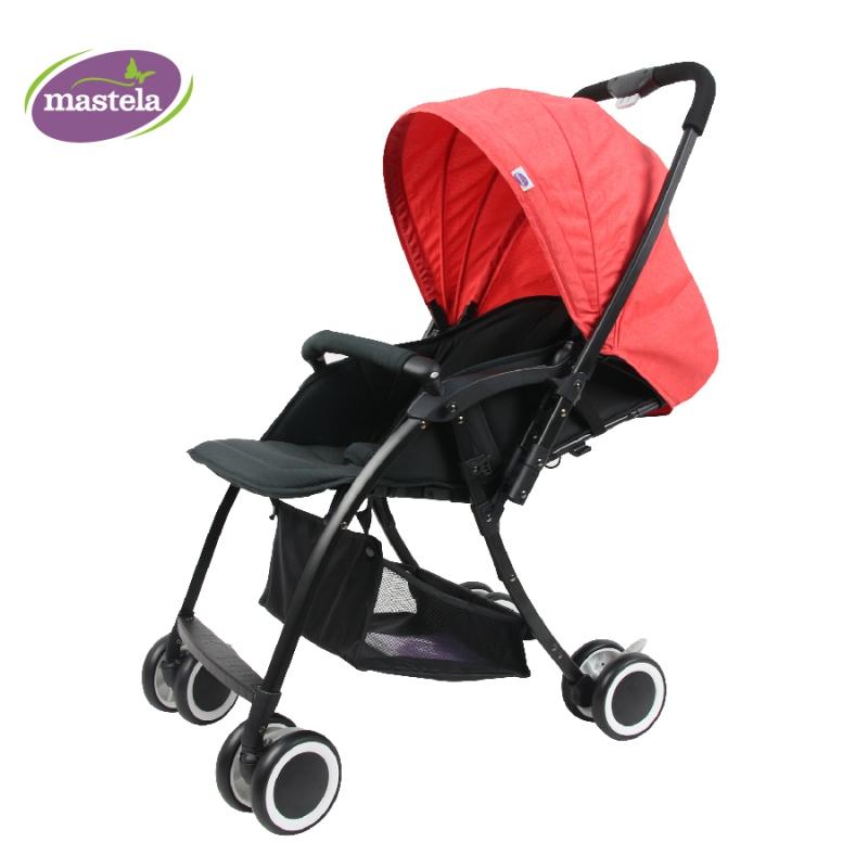 Xe đẩy 2 chiều siêu nhẹ Premium hiệu Mastela màu đỏ 1