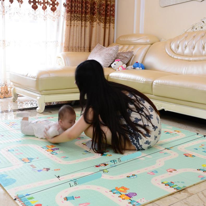 Thảm chơi cho bé Công nghệ Hàn Quốc phủ silicon chống thấm 2 mặt, nhiều mẫu 21