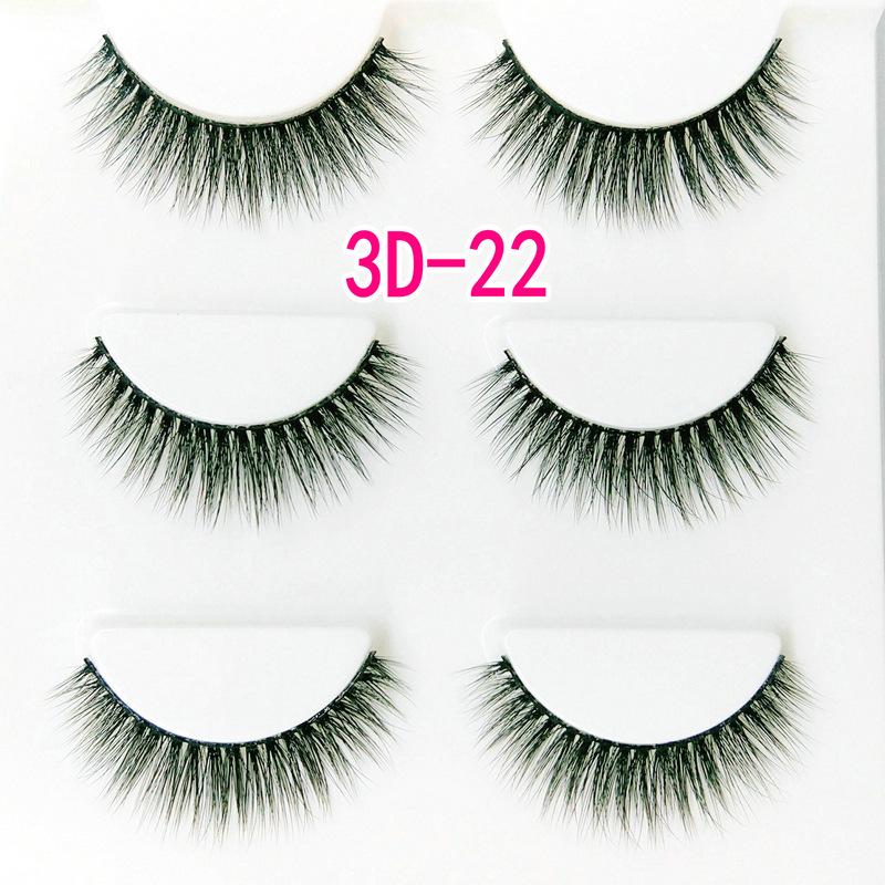 Lông mi giả lông chồn 3 Fashion Eyelashes 3 Faux-Cils 3D 1 bộ 3 cặp 86