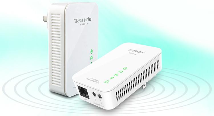 Bộ Chuyển Đổi PowerLine Wireless Tenda PW201A N300 Extender - Hàng Chính Hãng