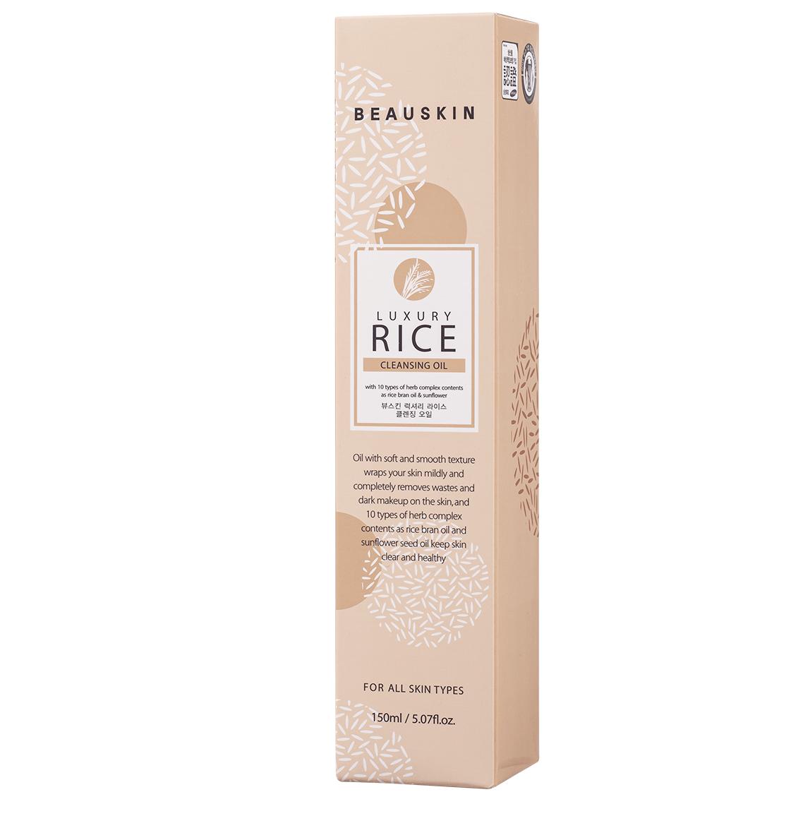 Nước tẩy trang mắt môi từ tinh chất gạo BEAUSKIN LUXURY RICE CLEANSING OIL Hàn quốc 150ml Chai Kèm 1 nơ xinh 5