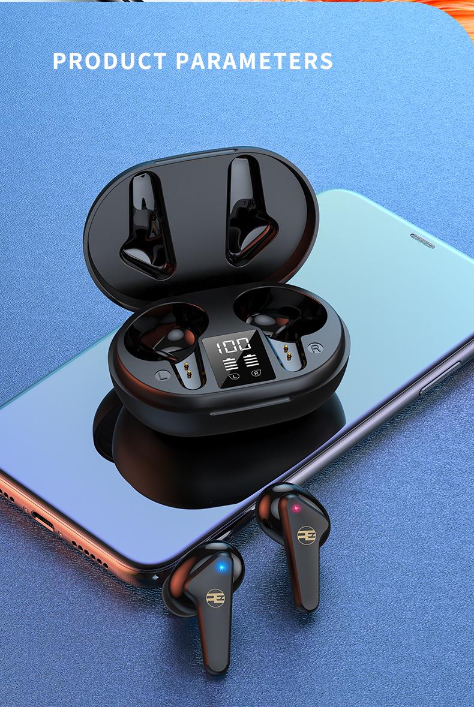 Tai Nghe Bluetooth V5.0 True Wireless Không Dây Reroka Torpedo 2021 Cảm Ứng Vân Tay Âm Thanh Hi-Fi  Bass Căng Trầm Pin Trâu Hiển Thị Mức Pin Đèn Led Chống Ồn Chống Nước Đổi Tên Thiết Bị Kiểu Giáng Thể Thao Đeo Chắc Tai 3 Màu Trắng Hồng Đen- Hàng Chính Hãng14