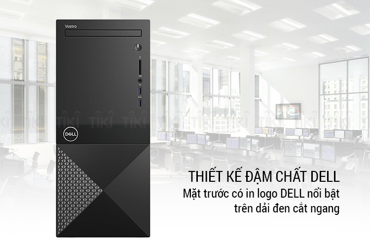 PC Dell Vostro 3670 MT 42VT370019 Core i3-8100/4GB/1TB HDD/Ubuntu - Hàng Chính Hãng