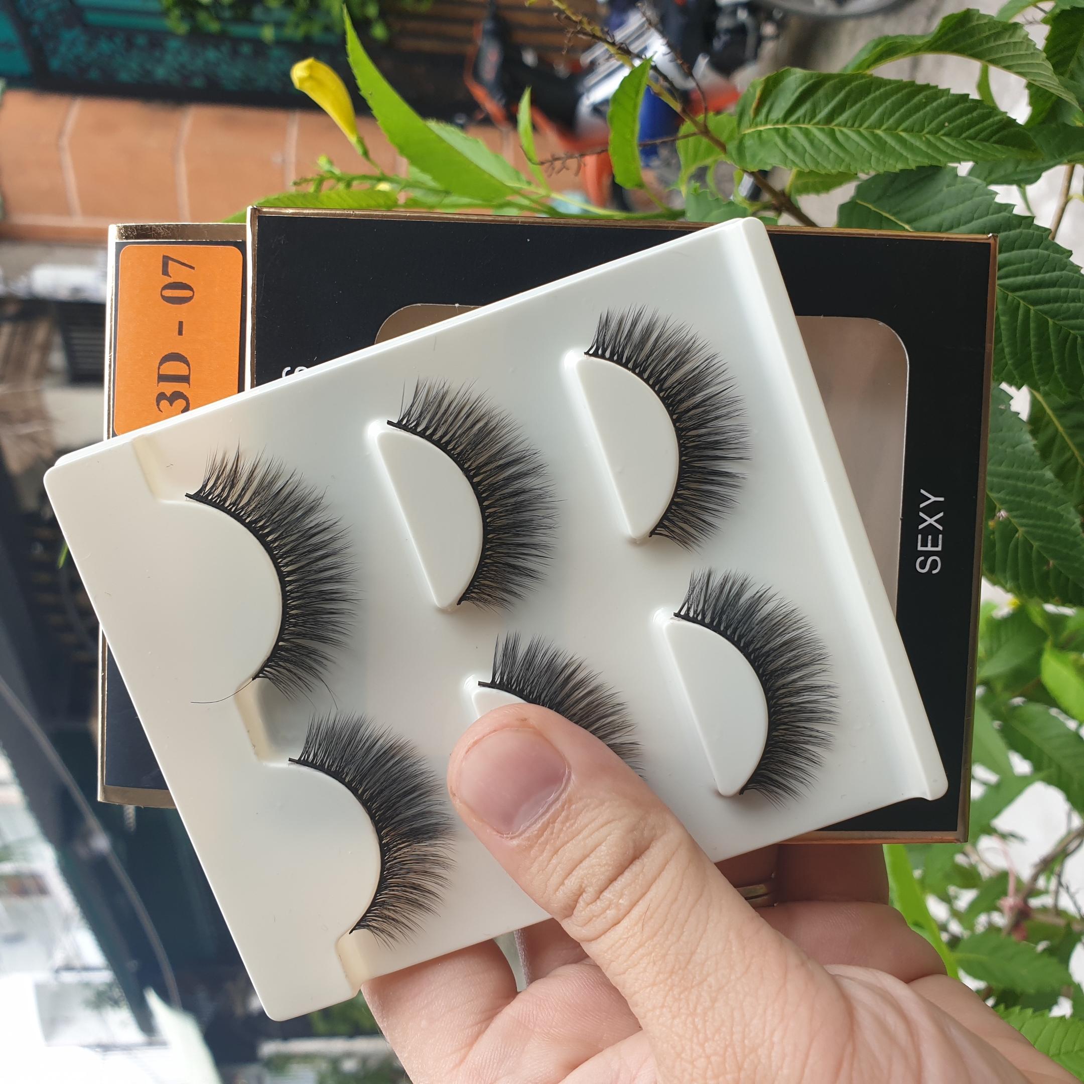 Lông mi giả lông chồn 3 Fashion Eyelashes 3 Faux-Cils 3D 1 bộ 3 cặp 28