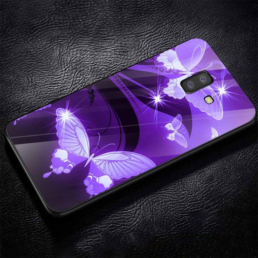 Ốp kính cường lực cho điện thoại Samsung Galaxy J4 - J6 - J6 PLUS - J6 PRIME - J8 - bướm đẹp MS ANH047