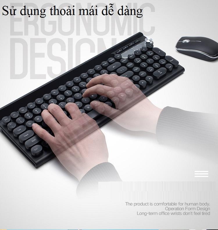 Bộ bàn phím và chuột không dây cao cấp -500 17